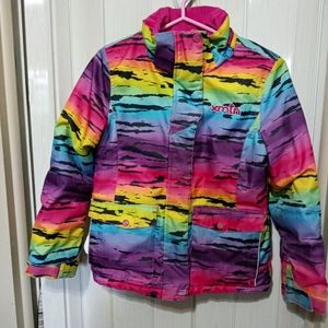 Xmtn rainbow ski jacket girls size 10